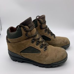 Timberland Size 7 Vintage Hiking Boots Suede Brown